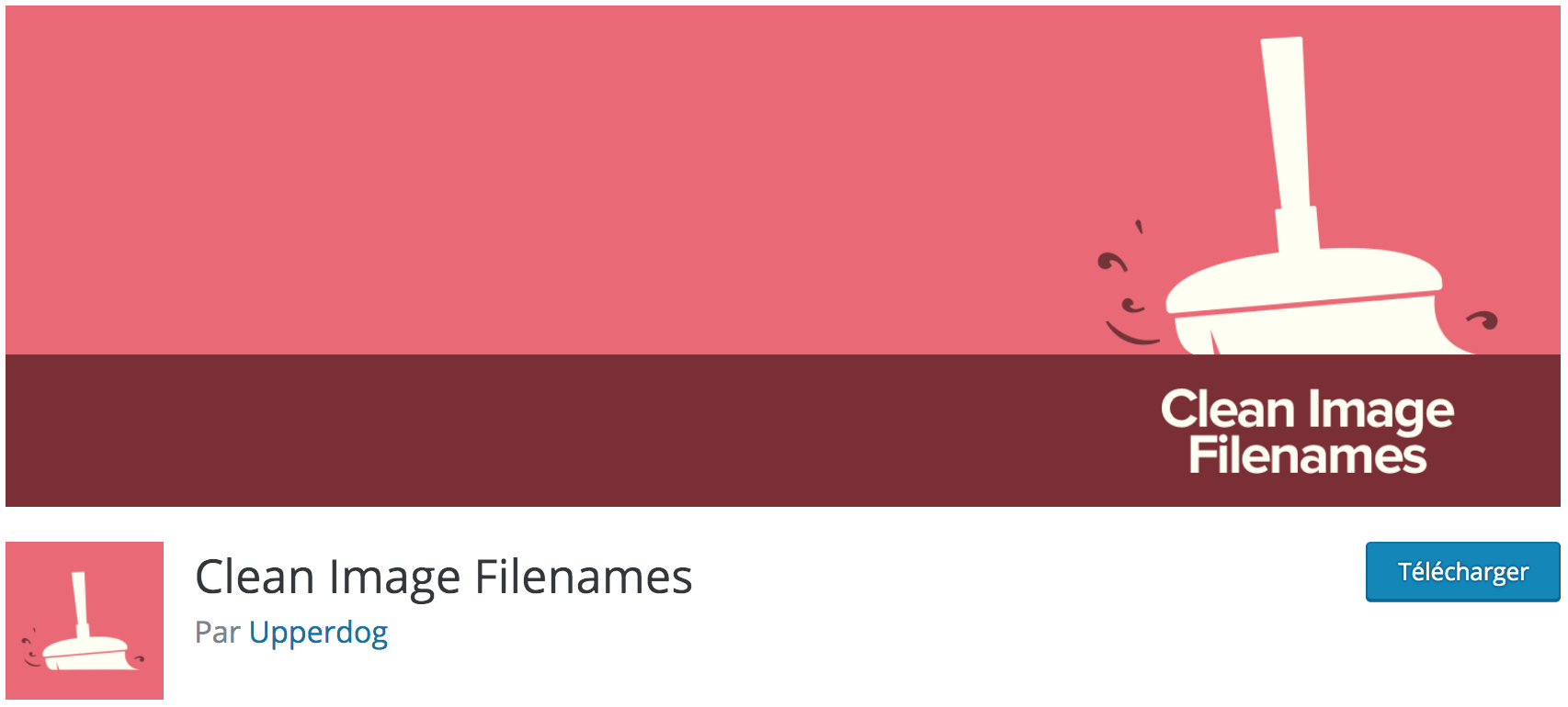 Notre avis sur Clean Image Filenames meilleur plugin gratuit pour supprimer les caractères spéciaux du nom des fichiers images