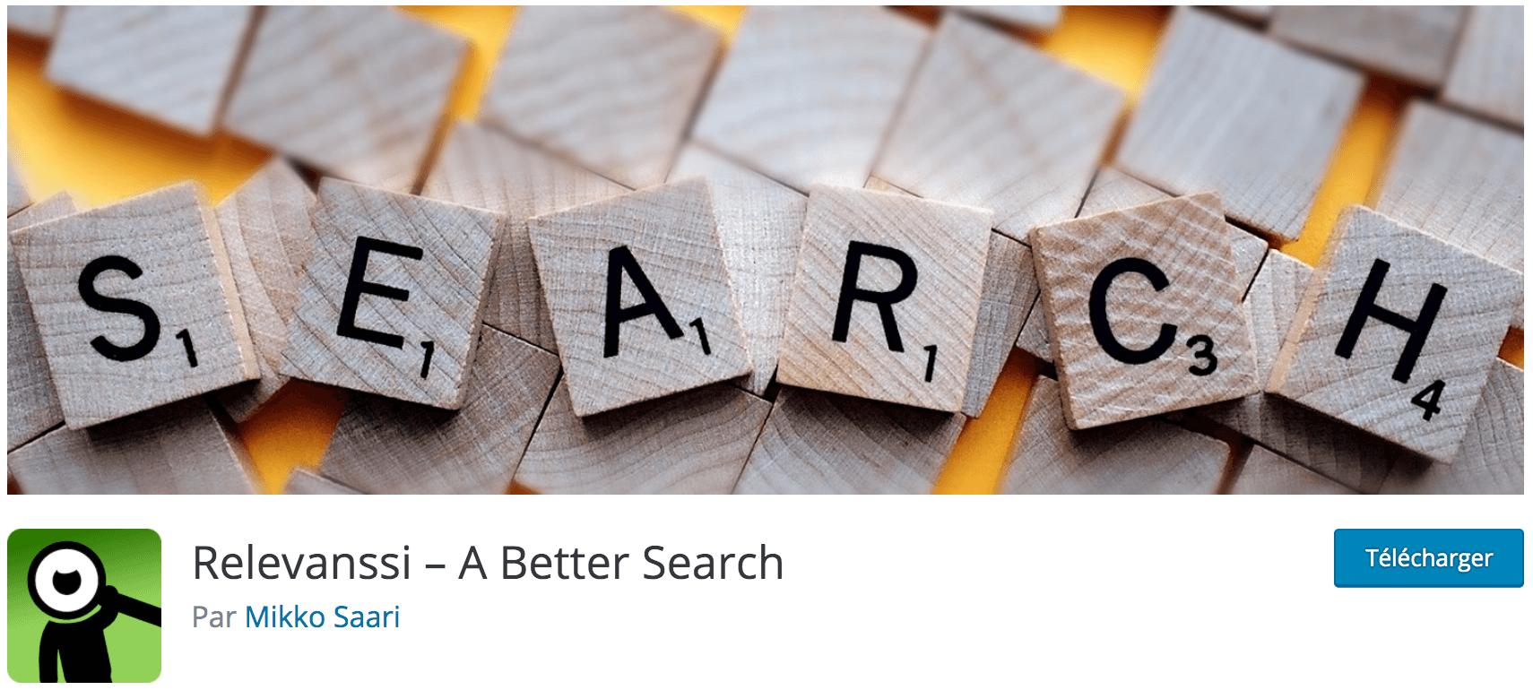 Notre avis sur Relevanssi meilleur plugin gratuit pour avoir un moteur de recherche WordPress plus avancés