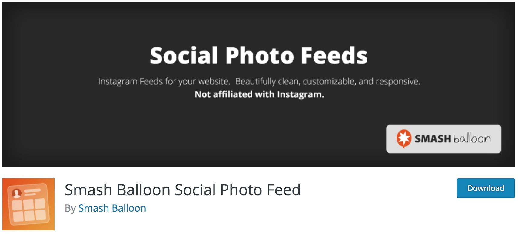 Notre avis sur Smash Balloon Social Photo Feed meilleur plugin WP gratuit pour intégrer votre flux Instagram dans WordPress