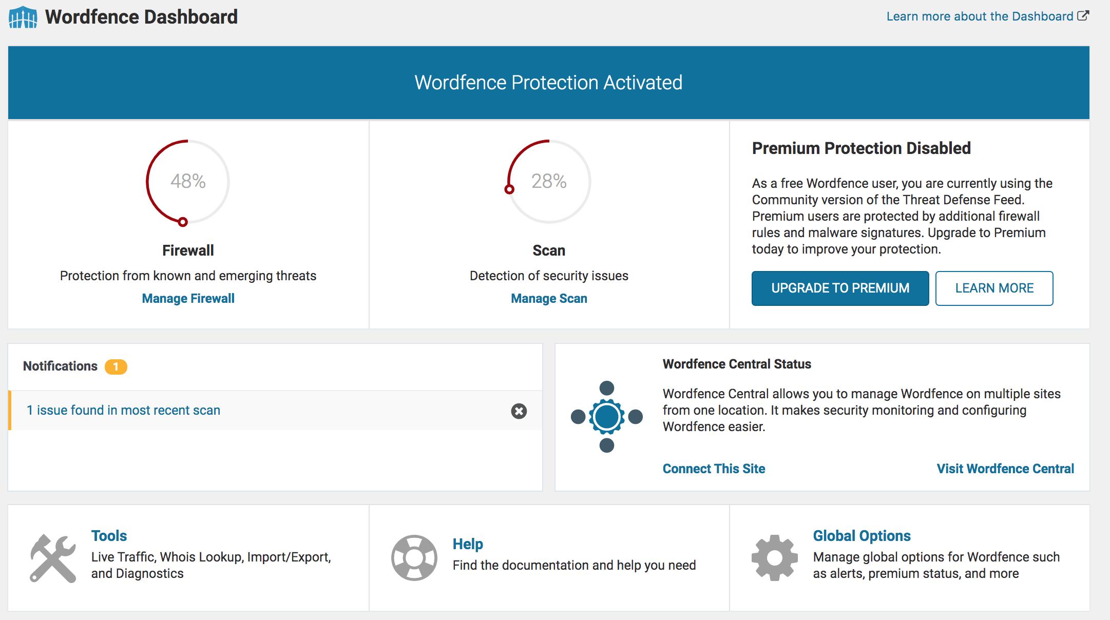 Scanner son site WordPress pour trouver des malwares avec le meilleur plugin WP de sécurité : WordFence