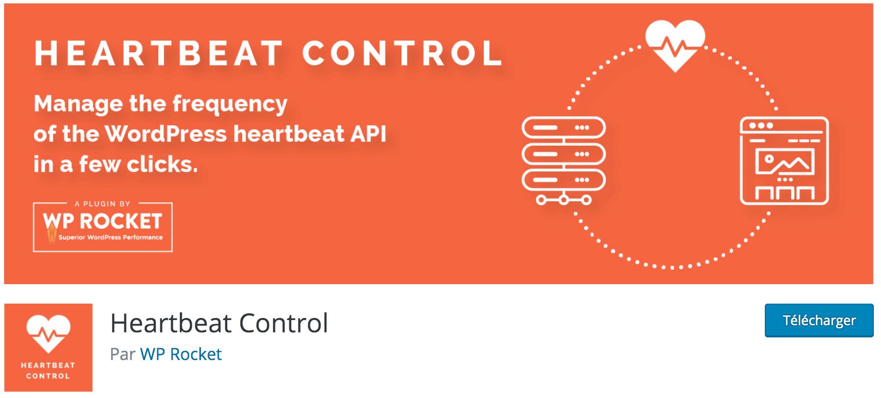 Notre avis sur Heartbeat Control meilleur plugin WP gratuit pour diminuer la fréquence du heartbeat de WordPress