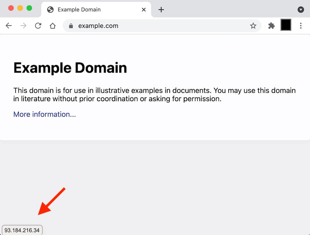 Afficher l'IP d'un site Web via Google Chrome