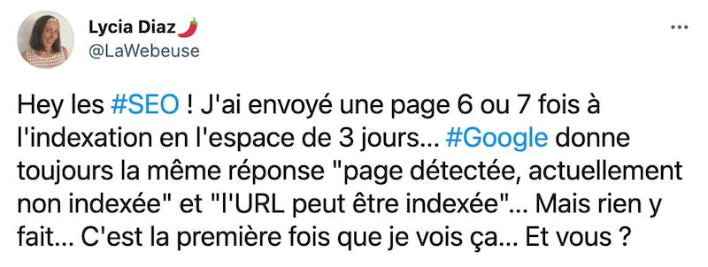 Indexation Google LaWebeuse sur Twitter
