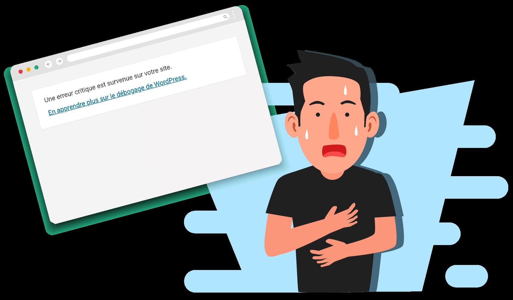 Une erreur critique est survenue sur votre site WordPress