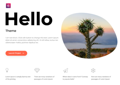 Template Gratuit WordPress Hello Elementor