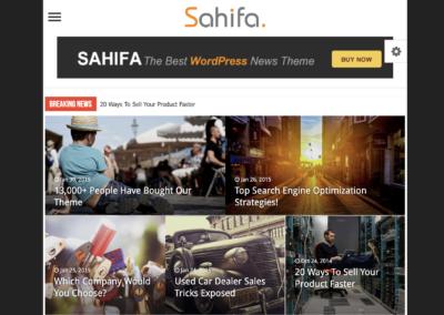 Thème WooCommerce Sahifa