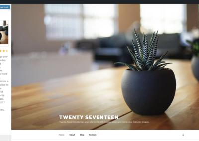 Thème WordPress Twenty Seventeen Gratuit