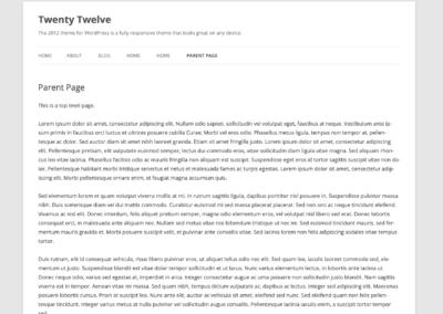 Twenty Twelve WP Template WordPress Gratuit